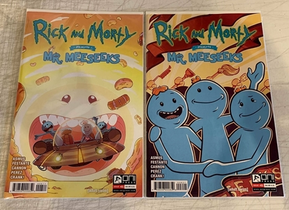 Picture of RICK & MORTY PRESENTS MR MEESEEKS #1 CVR A & B SET NM