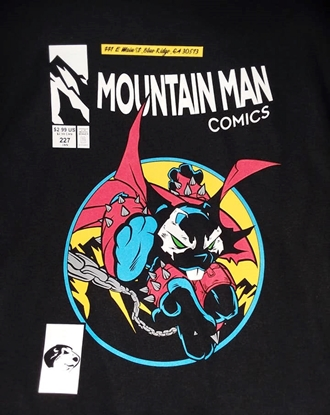 Picture of MOUNTAIN MAN COMICS SPAWN #1 COMIC RECREATION TEE-SHIRT XL NEW