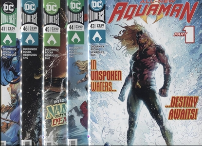 Picture of AQUAMAN #43-47 UNSPOKEN WATER SET