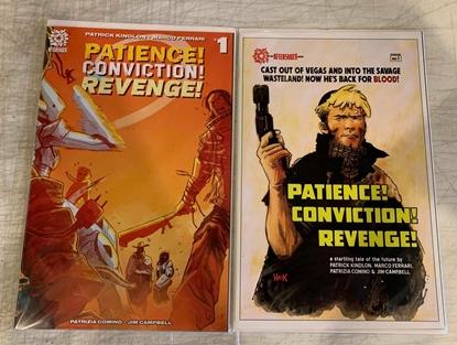 Picture of PATIENCE CONVICTION REVENGE #1 CVR A FERRARI & B HACK SET NM