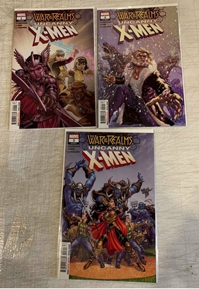 Picture of WAR OF REALMS UNCANNY X-MEN (2019) #1-3 1ST PRINT SET NM