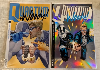 Picture of QUANTUM & WOODY (2017) #1 CVR A TEDESCO & B ULTRA FOIL SET NM