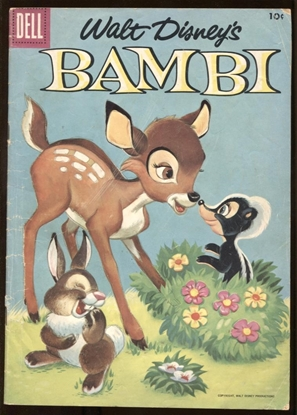 Picture of DELL MOVIE CLASSICS BAMBI #3 1956 4.0 VG