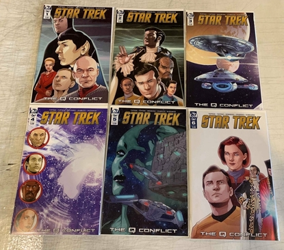 Picture of STAR TREK Q CONFLICT (2019) #1-6 CVR A MESSINA SET NM
