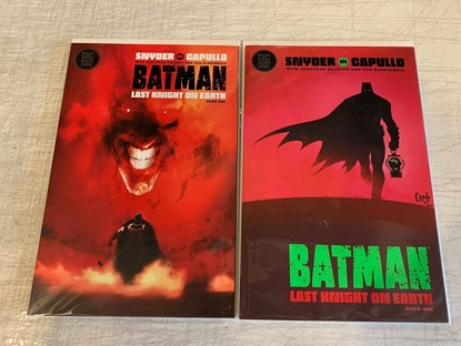 Picture of BATMAN LAST KNIGHT ON EARTH (2019) #1 1ST PRINT & JOCK VARIANT COVER SET NM