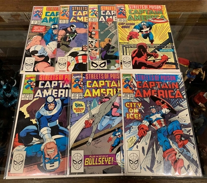 Picture of CAPTAIN AMERICA (1968) #372-378 STREETS OF POISON SET VF/NM