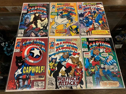 Picture of CAPTAIN AMERICA (1968) #402-407 MAN AND WOLF SET  VF/NM