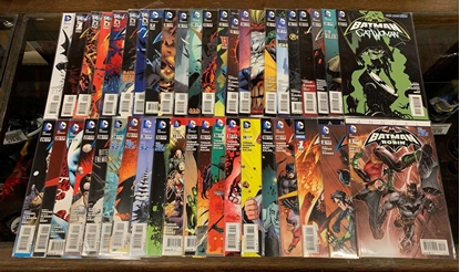 Picture of BATMAN AND ROBIN (2019) #0 1-40 + ANNUAL 1 2 3 SET VF/NM NEW 52