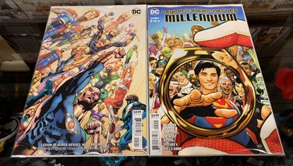 Picture of LEGION OF SUPER HEROES MILLENNIUM #2 1ST PRINT & VARIANT COVER  NM
