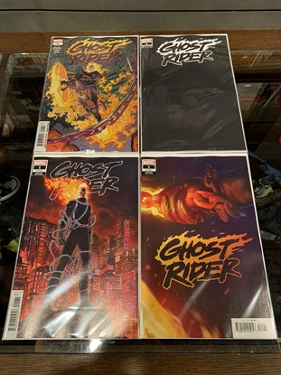 Picture of GHOST RIDER (2019)  #1 1ST PRINT BLANK KUDER & TEASER COVER SET NM