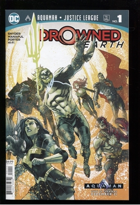 Picture of AQUAMAN JUSTICE LEAGUE DROWNED EARTH (2018) #1 NM