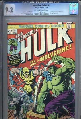 Picture of INCREDIBLE HULK #181 CGC 9.2 NM- OWW PAGES