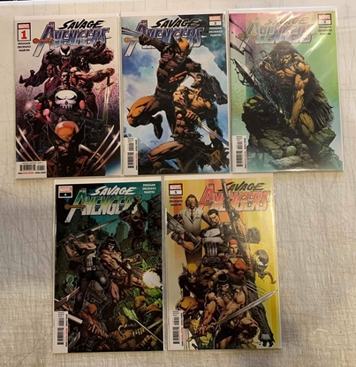 Picture of SAVAGE AVENGERS (2019)  #1-5 1ST PRINT SET NM