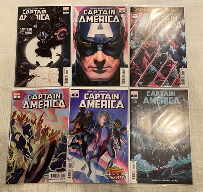 Picture of CAPTAIN AMERICA (2018) #7-12 CAPTAIN OF NOTHING 1ST PRINT SET NM
