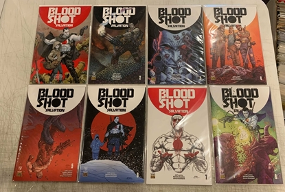 Picture of BLOODSHOT SALVATION (2017) #1-8 MIXED CVR A/PRE-ORDER SET NM