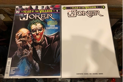 Picture of JOKER YEAR OF THE VILLAIN (2019) #1 1ST PRINT & BLANK COVER SET NM