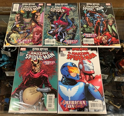 Picture of AMAZING SPIDER-MAN (1963) #595-599 DARK REIGN SET VF/NM