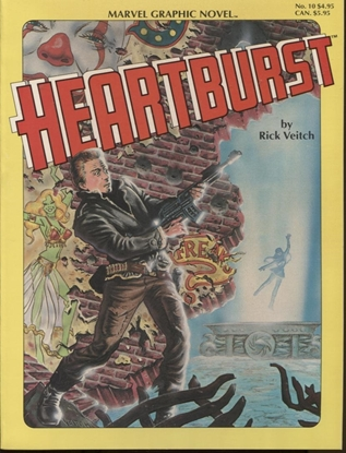 Picture of MARVEL GRAPHIC NOVEL #10 HEARTBURST NM+