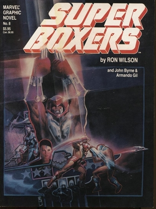 Picture of MARVEL GRAPHIC NOVEL #8 SUPER BOXERS  NM