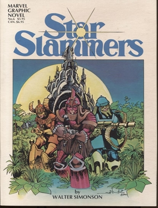 Picture of MARVEL GRAPHIC NOVEL #6 THE STAR SLAMMERS NM-