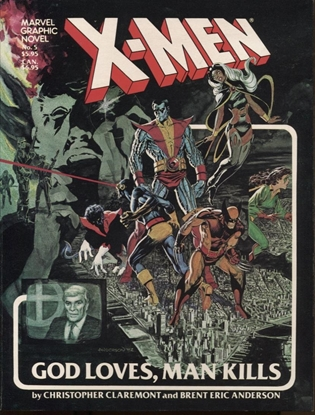 Picture of MARVEL GRAPHIC NOVEL #5 X-MEN GOD LOVES MAN KILLS NM