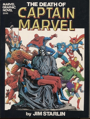 Picture of MARVEL GRAPHIC NOVEL #1 DEATH OF CAPTAIN MARVEL NM-