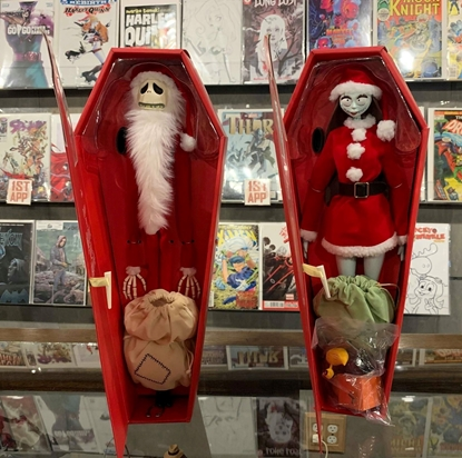 Picture of NBX SANTA JACK & SALLY UNLIMITED COFFIN DOLL SET