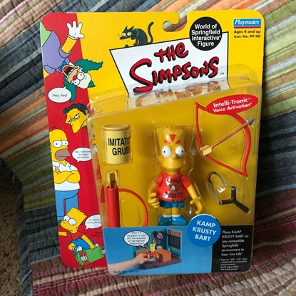Picture of PLAYMATES 20TH CENTURY FOX THE SIMPSONS ACTION FIGURE KAMP KRUSTY BART SIMPSON FIGURE NEW IN BOX
