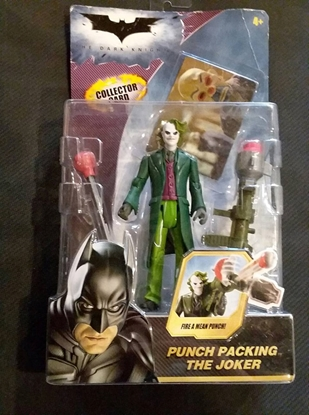 Picture of MATTEL DC THE DARK KNIGHT PUNCH PACKING THE JOKER ACTION FIGURE NEW SEE DESCRIPTION!