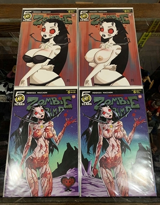 Picture of ZOMBIE TRAMP ONGOING #47 CVR A B E F 4 COVER SET REG & RISQUE NM