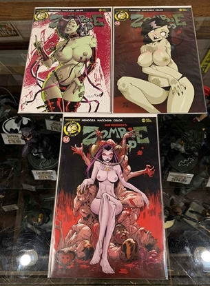 Picture of ZOMBIE TRAMP ONGOING #49 CVR B D F COVER SET NM RISQUE