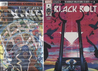 Picture of BLACK BOLT #8 1ST PRINT AND LENTICULAR SET
