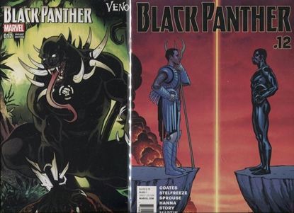 Picture of BLACK PANTHER #12 1ST PRINT & VENOMIZED VARIANT SET