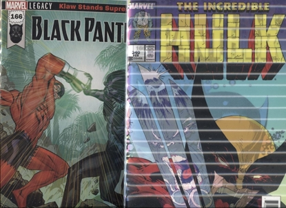 Picture of BLACK PANTHER #166 1ST PRINT & LENTICULAR SET