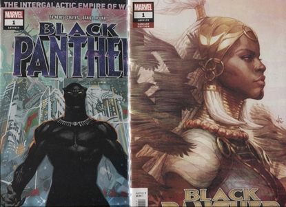 Picture of BLACK PANTHER #1 1ST PRINT & ARTGERM VARIANT SET