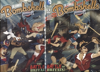 Picture of DC COMICS BOMBSHELLS #11 & 12 CONNECTING COVER SET