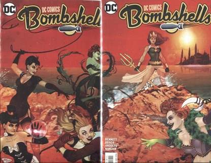 Picture of DC COMICS BOMBSHELLS #17 & 18 CONNECTING COVER SET