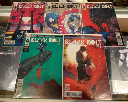 Picture of BLACK BOLT(2017)  #8-12 1ST PRINT SET NM MIDNIGHT KING RETURNS TO EARTH