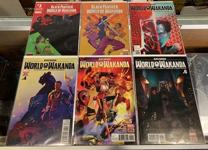 Picture of BLACK PANTHER WORLD OF WAKANDA (2017) #1-6 1ST PRINT SET NM