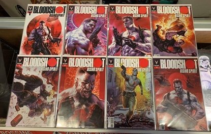 Picture of BLOODSHOT RISING SPIRIT #1-8 1ST PRINT CVR A MASSAFERA SET NM