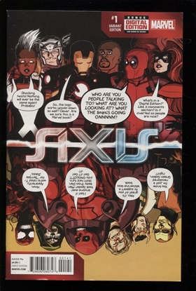 Picture of Avengers and X-Men Axis (2014) #1 DEADPOOL PARTY VARIANT NM