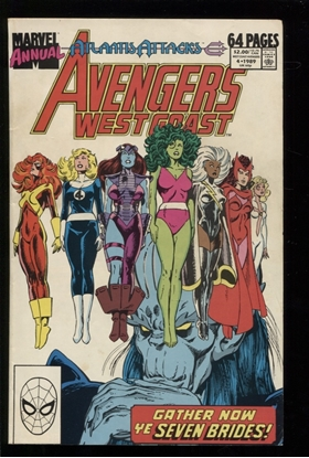 Picture of AVENGERS WEST COAST (1986) ANNUAL #4 6.0 FN