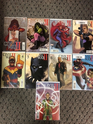 Picture of CIVIL WAR II #0-8 NOTO VARIANT COVER SET