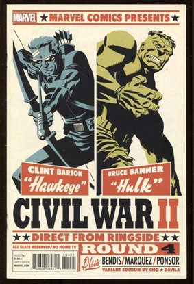 Picture of CIVIL WAR II #4 MICHAEL CHO VARIANT COVER