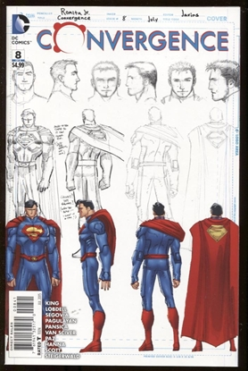 Picture of CONVERGENCE #8 1:100 SUPERMAN SKETCH VAR ED