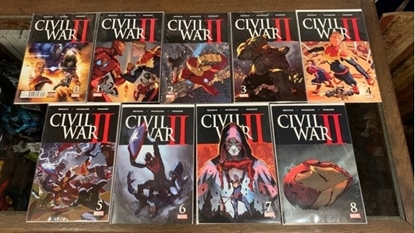 Picture of CIVIL WAR II (2016) #0 1-8 1ST PRINT SET NM