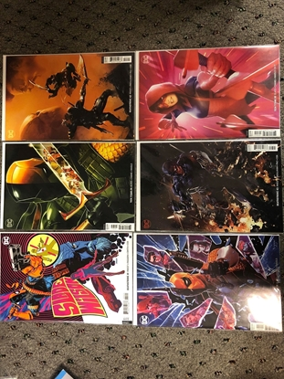 Picture of DEATHSTROKE 41-43 + TEEN TITANS 28-30 TERMINUS AGENDA COVER B SET