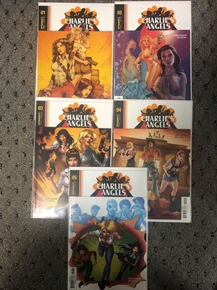 Picture of CHARLIE'S ANGELS #1-5 COVER A SET