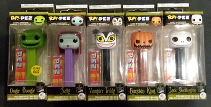 Picture of FUNKO POP! PEZ NIGHTMARE BEFORE CHRISTMAS SET OF 5 NEW