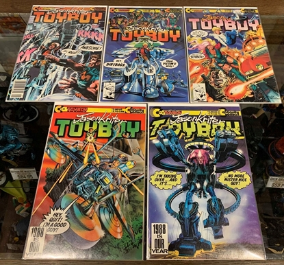 Picture of JASON KRITER TOYBOY (1988) #1-5 1ST PRINT SET VF/NM